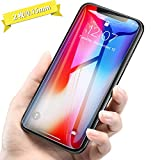 【2枚入り】iPhoneX 強化ガラスフィルム iPhone 10液晶保護フィルム 0.15mm超薄型 耐スクラッチ 指紋防止 アイフォンx フィルム【DIVI 】