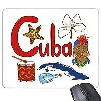 キューバ国立シンボルLandmarkパターンノンスリップゴムマウスパッドゲームOfficeマウスパッドギフト