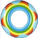 クラシック 男女兼用 浮き輪 レディース夏浮輪 水インフレータブル花のおもちゃpvc水泳リング夏のポータブルスイミングプールビーチプールの装飾大人子供カップルブルー/ピンク 可愛い浮輪 海水浴 プール 水遊び 海フロート