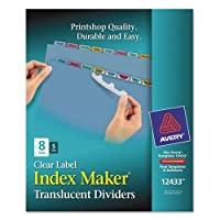 AVE12433 - Index Maker Clear Label Punched Dividers by Avery????