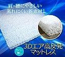 3Dエア 高反発マットレス セミダブル カバー無し 4cm厚 ポリエチレン樹脂のみ ベッドパッド