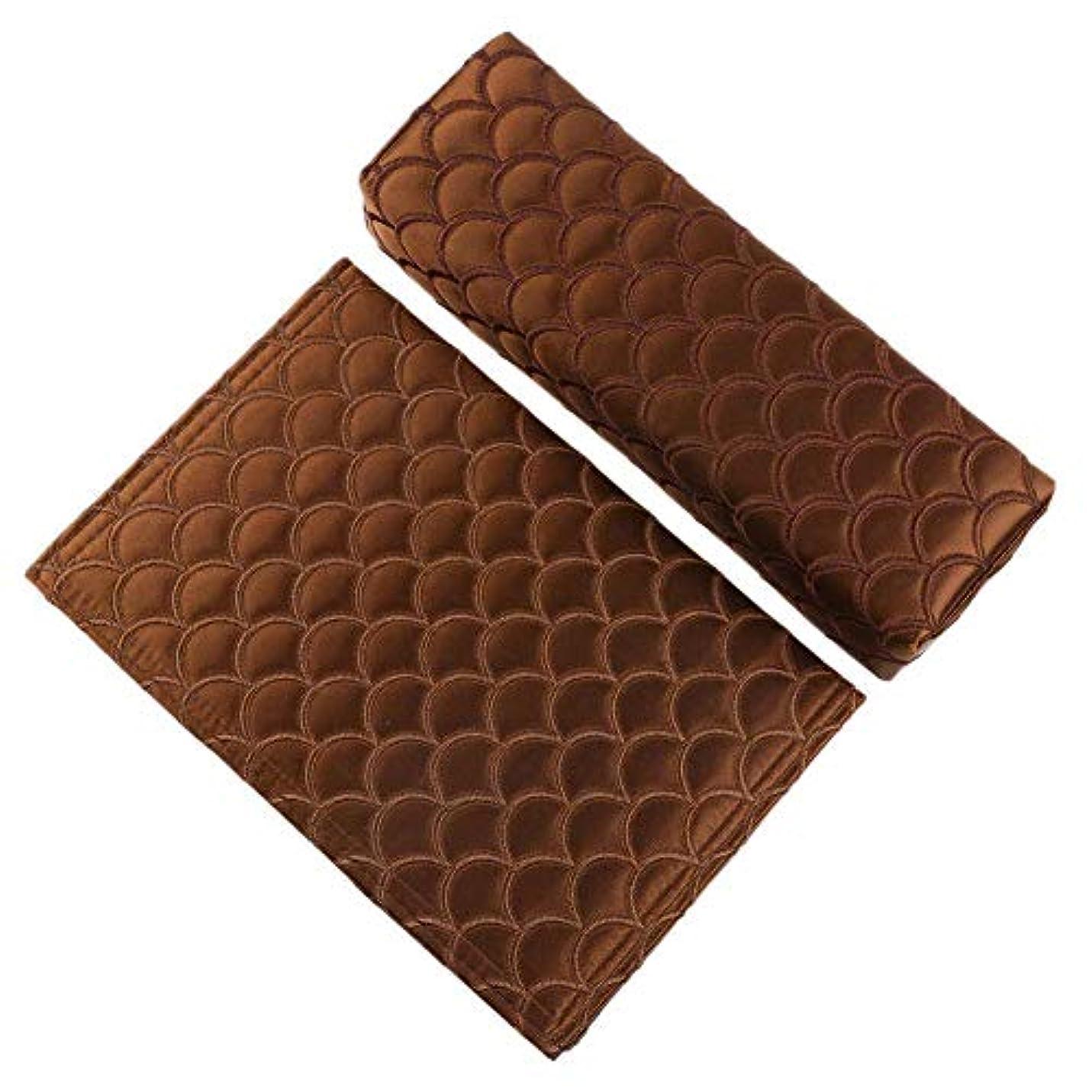 間違いなく策定するエンゲージメント6色2個折り畳み式の絶妙なソフトシルクネイルアートハンドピロー-アームレストマニキュアサロン用の高温耐性高品質ハンドクッション(06)