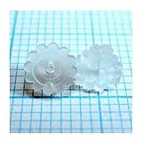 日本製 10組セット ピアスキャッチ シリコンキャッチ 樹脂キャッチ ひまわり型 0.6mm以上対応 (20個)