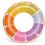 浮き輪 子供用 うきわ フロート カラフル 鮮やか 色彩 おしゃれ 直径60cm/70cm 2サイズ 水遊び レジャー プール ビーチグッズ 海水浴 男の子 女の子 夏