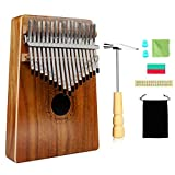 カリンバ 17キー Kalimba HELESIN 親指ピアノ 相思木(KOA)製17 keys Kalimba ハンマー アフリカ楽器 ソリッドウッド - ナチュラルカラー
