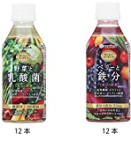 【Amazon.co.jp限定】ユーグレナ おいしいユーグレナ 野菜と乳酸菌12本+おいしいユーグレナ ベリーと鉄分12本