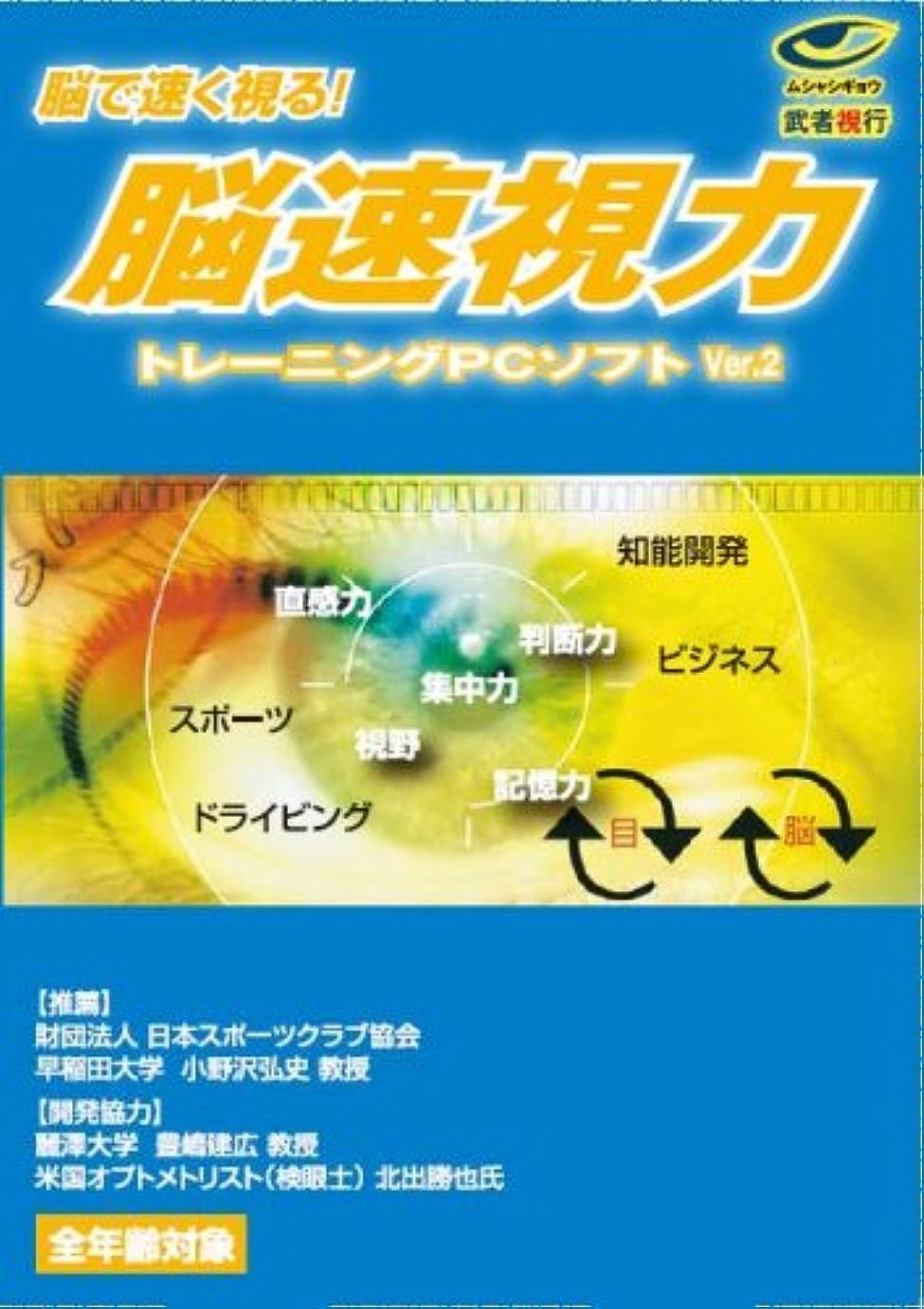 時系列まっすぐにする通行人武者視行 脳速視力トレーニングPCソフトVer.2