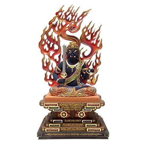楠 彩色不動明王 坐像 53cm 木彫り 仏像
