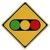 【大蔵製作所】本物と同素材、同デザインのミニチュア道路標識 標識板のみ (信号機)