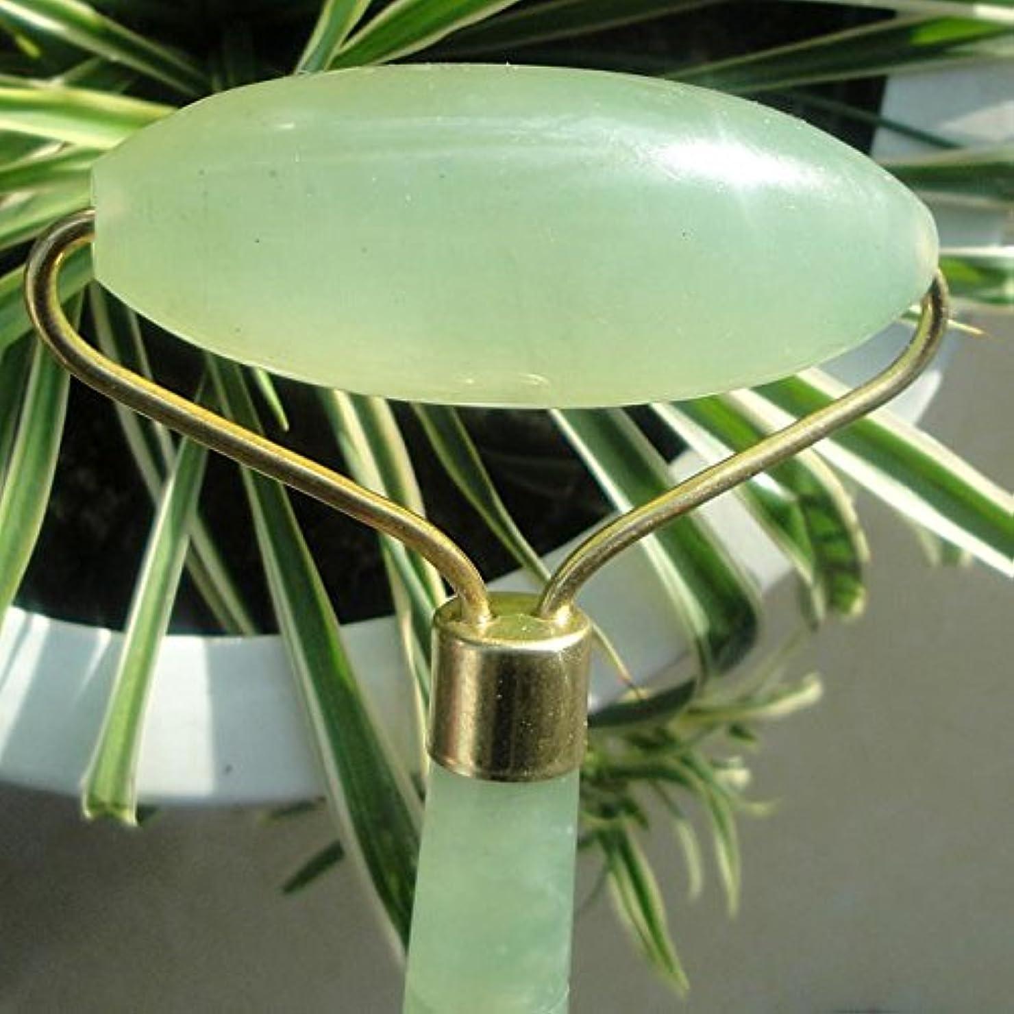 マイクロプロセッサウォルターカニンガム警察署100%翡翠美顔ローラーストーン 天然石 美顔 美容グッズ フェイシャルマッサージ つぼ刺激 ローラータイプ Single head Jade roller