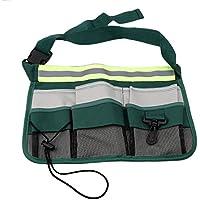 KLUMA 園芸用具バッグ ガーデンポケットバッグ ハンギングポーチ 工具差し 腰袋 ウエストバッグ ベルト付き ツールバッグ 7ポケット