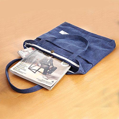 [해외]캔버스 숄더백 문예 토트 엄마 가방 통학 가방 여러 종류 다색 선택 가능/Canvas bag shoulder bag literary tote bag Mommy bag commuter bag Multi-color selectable