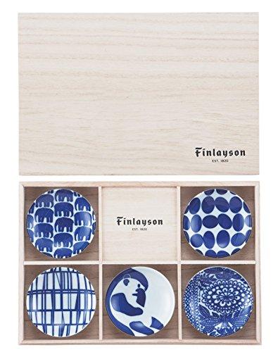 フィンレイソン 染付 豆皿 揃 5枚セット (木箱入) 5柄 FIN40-127H