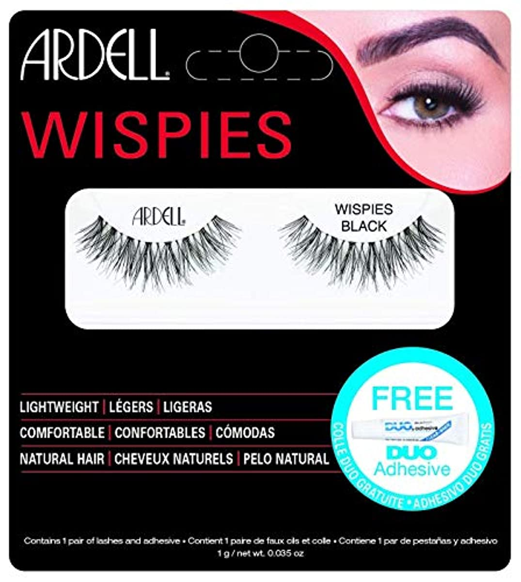 実用的同情郵便屋さんARDELL False Eyelashes - Invisibands Wispies Black