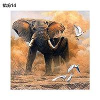 goupgolboll-30×30センチdiy象猫フルラウンドダイヤモンドクロスステッチ壁絵画アートの装飾 - z614