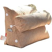 柔らかい快適な ピローベッドヘッドバックレストソファーピローオフィスベルトウエストソリッドカラーコットントライアングルクッション 腰椎枕サポート (サイズ さいず : 45cm)