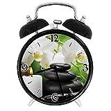 210STAR-蘭キャンドルと壮大な自然療法が付いている禅のホットマッサージの石レトロで個性あふれる、家やオフィス用の大きなウェイクアップの目覚まし時計