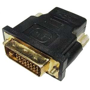DVI→HDMI変換アダプター《HDMI:メス》《DVI24ピン:オス》