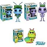 Pop!: Disney - A Bug's Life Flik, Princess Atta, and Heimlich Vinyl Figures Set of 3 by Pop