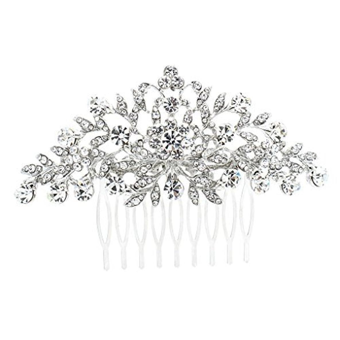 持つ刺すうんざりSEPBRDIALS Rhinestone Crystal Hair Comb Pins Women Wedding Hair Jewelry Accessories FA2944 (Silver) [並行輸入品]