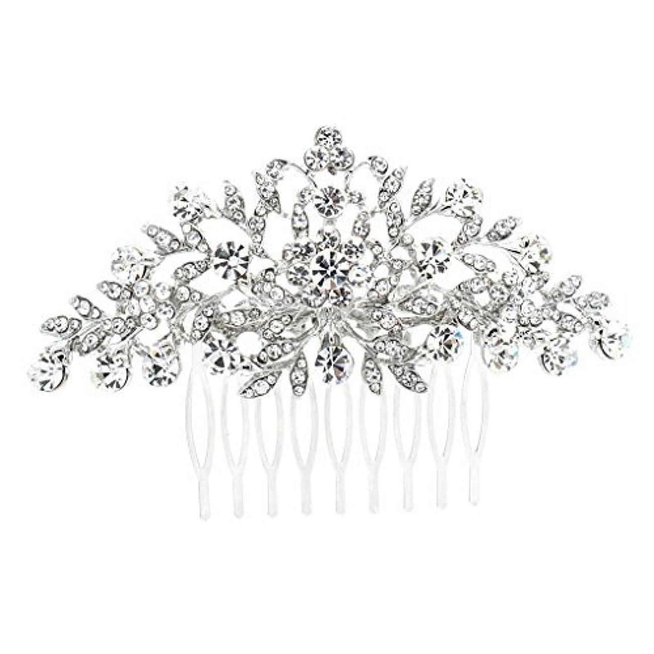 倒産ヘアコンパニオンSEPBRDIALS Rhinestone Crystal Hair Comb Pins Women Wedding Hair Jewelry Accessories FA2944 (Silver) [並行輸入品]