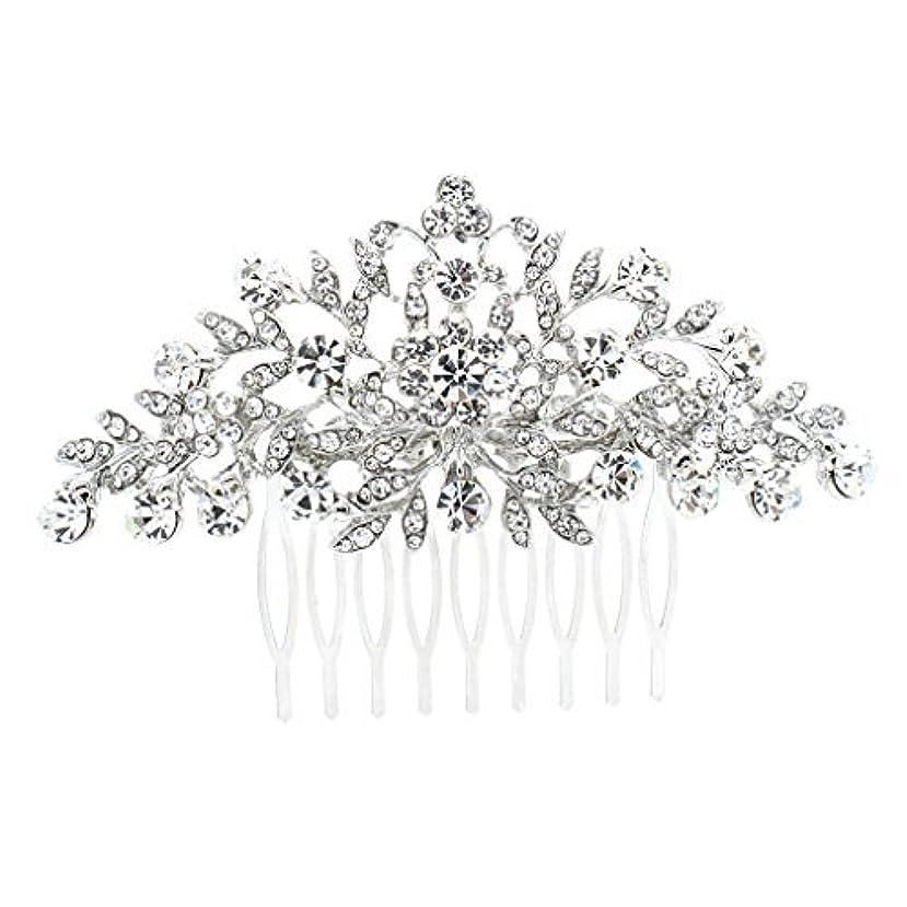 経過ところで吹きさらしSEPBRDIALS Rhinestone Crystal Hair Comb Pins Women Wedding Hair Jewelry Accessories FA2944 (Silver) [並行輸入品]