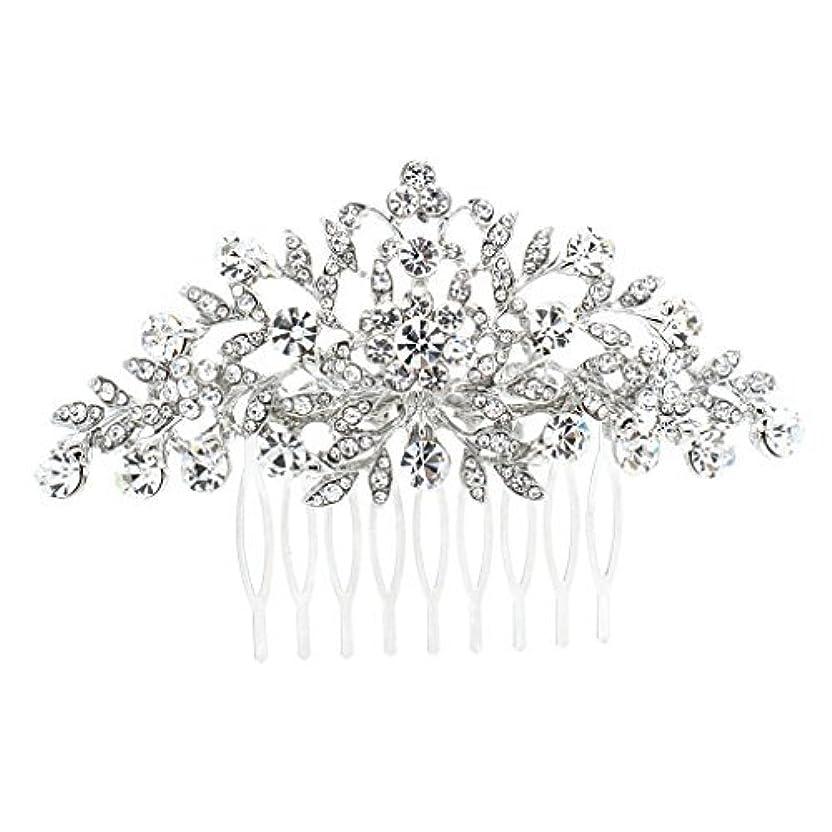 文句を言うありふれた受信機SEPBRDIALS Rhinestone Crystal Hair Comb Pins Women Wedding Hair Jewelry Accessories FA2944 (Silver) [並行輸入品]