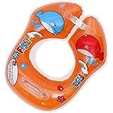 [MARRYME] 赤ちゃん 浮輪 首浮き輪 ベビー 胴回り ボディリング 幼児 子供 スイムリング フロート 水泳圏 浮具 水遊び お風呂 ビーチ ポンプ付き (オレンジ)