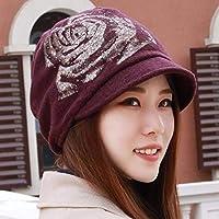 Women's Hat Ms Caps Cap Riding Hat (Color : The red, Size : -)