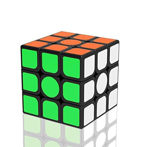 Newislandスピードキューブ ver.2.0 ステッカー立体パズル 競技専用 ポップ防止 回転スムーズ 世界基準配色 6面完成攻略書(LBL法)付属 57x57x57mm