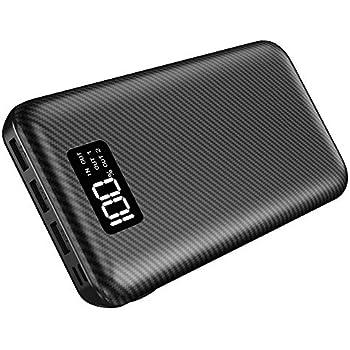 モバイルバッテリー 24000mAh 大容量 急速充電器 LCD残量表示 2USB入力ポート 3USB出力ポート スマホ充電器 PSE認証済 iPhone/iPad/Androidほとんどの機種に対応 旅行/出張/アウトドア活動などに活躍