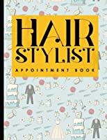 Hair Stylist Appointment Book: 6 Columns Appointment Journal, Appointment Scheduler Calendar, Daily Planner Appointment Book, Cute Wedding Cover