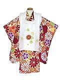 七五三 3歳 着物セット 式部浪漫ブランドの被布セット 正絹「エンジ 古典柄」SRs-311SE