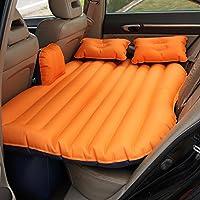 SUVエアベッドカーインフレータブルマットレストラベルバックシートキャンプリアシートマットクッションカーショックベッドオレンジ