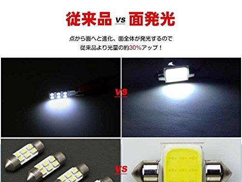 LED T10 面発光COB T10*28mm LEDバルブ フェストン球 ルームランプ ラゲッジ 汎用タイプ 高輝度 両口金