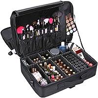 TOPmountain Travel Makeup Suitcase Organizer Box Case for Cosmetics Bag Storage Women
