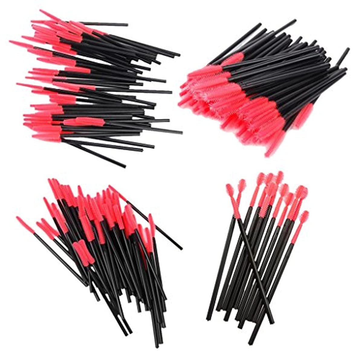 処方するまとめるめ言葉【ノーブランド品】化粧筆 まつげブラシ スクリューブラシ 4種類 使い捨て 約200本入り