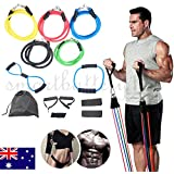 Vinteky New 13 PCS Resistance Band Set - Include 5 Stackable Exercise Bands with Handles, Carrying Case, Door Anchor Attachment, Legs Ankle Straps for Resistance Training, Home Workouts