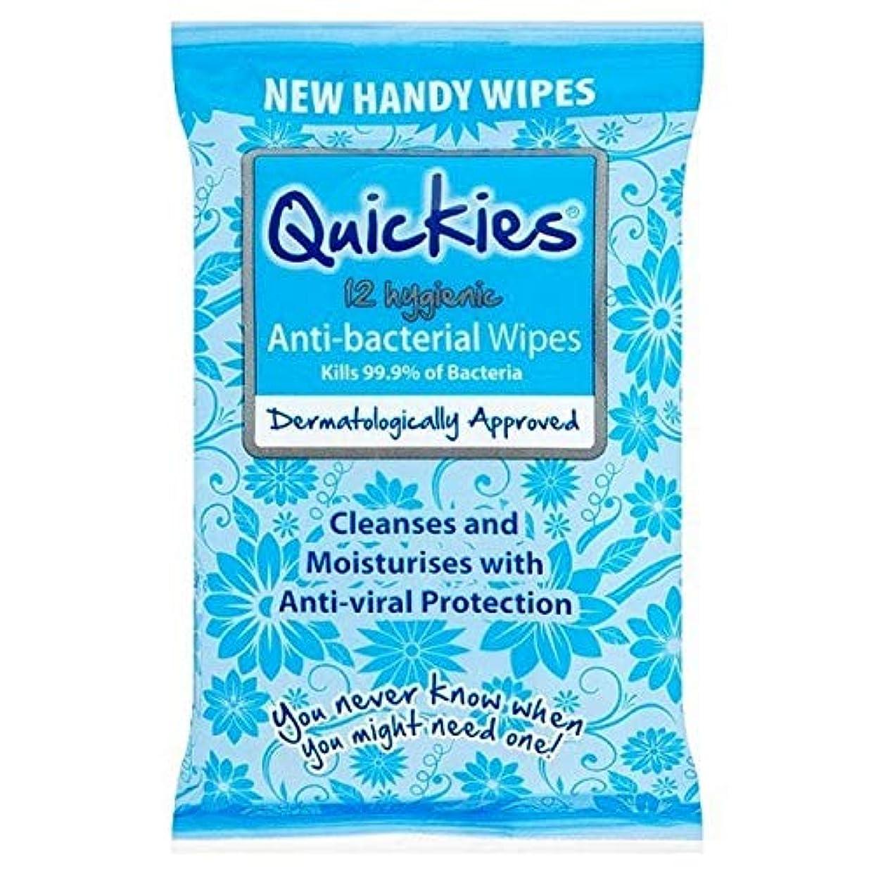 農夫きちんとした北へ[Quickies ] 抗BacはX12をワイプ短時間セックス - Quickies Anti-Bac Wipes X12 [並行輸入品]