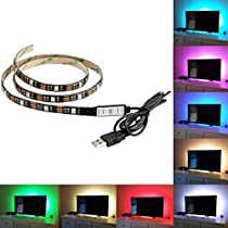 ALITOVE WS2812B led テープアドレス可能 5050RGB SMD LEDテープライト1M 30個 ピクセル 虹色 防水 黒いベース 5V DC