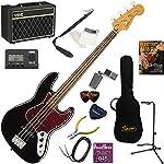 Squier エレキベース 初心者 入門 王道のジャズベース 人気のVOX Pathfinder BASS10が入った本格14点セット Classic Vibe '60s Jazz Bass/BLK(ブラック)