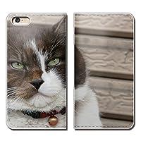 (ティアラ) Tiara AQUOS L2 UQ mobile SH-L02 スマホケース 手帳型 ベルトなし 猫 CAT ペット ネコ ねこ 手帳ケース カバー バンドなし マグネット式 バンドレス EB142030096201