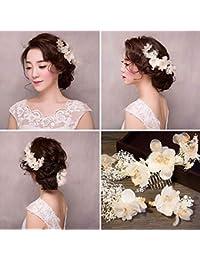 Yiteng 髪飾り 成人式 結婚式 花嫁 3点セット フラワーガール ヘアアクセサリー