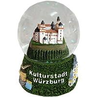 30008 【Minium Collection】 Snowdome スノーグローブ。 German Souvenir Snow Globe Glitterdome ドイツの都市