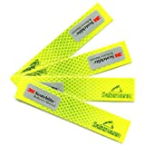 Salzmann Waterproof 3M Diamond Grade All Weather Outdoor Safety Reflective Stickers for Autos, Cars & Motorcycle and Other Safety Needs - 4 PCS