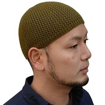 Nakota ( ナコタ ) シームレス コットン イスラム帽 イスラムワッチキャップ 日本製 帽子 ワッチキャップ ビーニー (LLサイズ, オリーブ(31))
