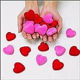バレンタイン装飾 スチロールハート ピンク10個 赤10個 計20個  888