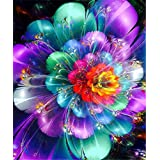 5D Diamond Painting Kits DIY Round Drill Arts Crafts Wall Stickers for Living Room Flower (12X18inches/30X45cm)