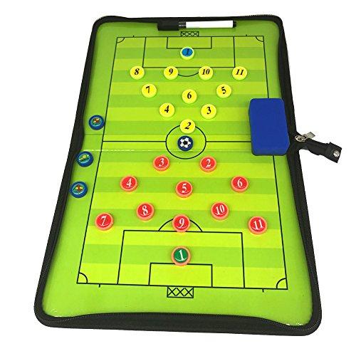 LUQHUQ 作戦板 サッカーマグネットコーチングボード戦術的なボード、 消去可能なマーカーキット、 折り畳み式、 ポータブルコーチングツール、 これは、訓練のために使用することができ、 競争 シミュレーションゲーム
