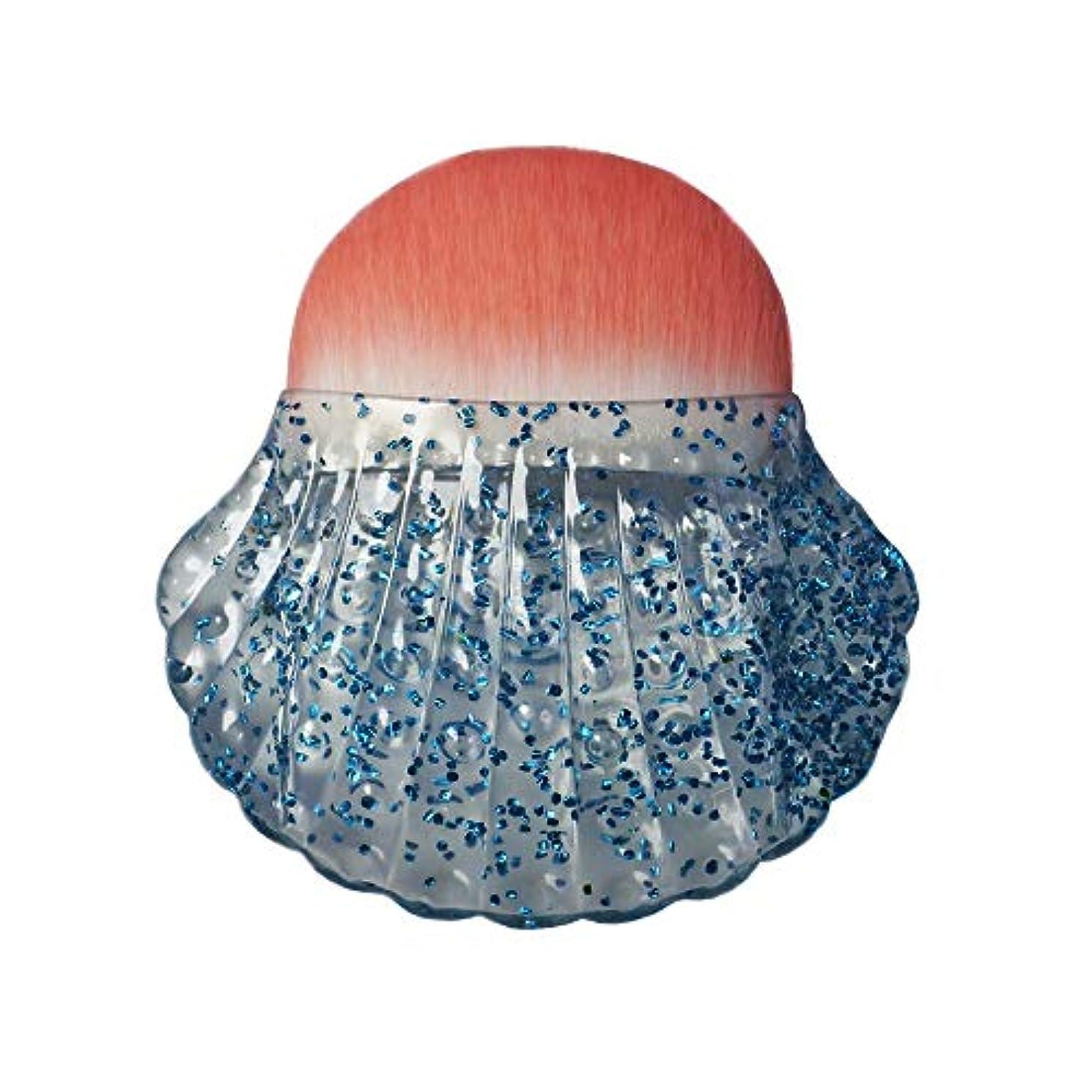 唯一急流カフェMakeup brushes トリッピングブルー、個々のシェルタイプブラッシュブラシ美容メイクブラシツールポータブル多機能メイクブラシ suits (Color : Clear Sequin)